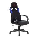 Кресло игровое Zombie ZOMBIE RUNNER черный/синий текстиль/эко.кожа крестовина пластик