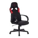Кресло игровое Zombie ZOMBIE RUNNER черный/красный текстиль/эко.кожа крестовина пластик