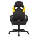 Кресло игровое Zombie ZOMBIE RUNNER черный/желтый искусственная кожа крестовина пластик