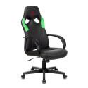 Кресло игровое Zombie ZOMBIE RUNNER черный/зеленый искусственная кожа крестовина пластик
