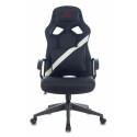 Кресло игровое Zombie DRIVER черный/белый искусственная кожа с подголов. крестовина пластик