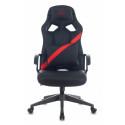 Кресло игровое Zombie DRIVER черный/красный искусственная кожа с подголов. крестовина пластик