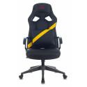 Кресло игровое Zombie DRIVER черный/желтый искусственная кожа с подголов. крестовина пластик