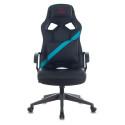 Кресло игровое Zombie DRIVER черный/голубой искусственная кожа с подголов. крестовина пластик