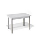 Стол обеденный Kenner 1100S белый/стекло белое глянец