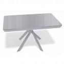 Стол Kenner VK1400 серый/стекло глянец