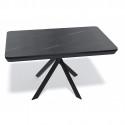 Стол Kenner VK1400 черный/мрамор серый