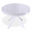 Стол Kenner VR1200 белый/стекло белый глянец