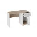 Письменный стол с ящиком «Тоскана» (Белый Жемчуг/Гикори Джексон)
