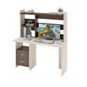 Компьютерный стол Домино Lite СКЛ-Прям130+НКЛ-130 (правый)