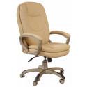 Кресло руководителя Бюрократ CH-868YAXSN/Beige бежевая искусственная кожа (пластик золотистый)
