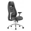 Кресло руководителя Бюрократ Zen/Black черный кожа