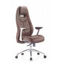 Кресло руководителя Бюрократ Zen/Brown коричневый кожа