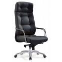 Кресло руководителя Бюрократ _DAO/BLACK черный кожа