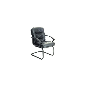 Кресло руководителя Бюрократ T-9908AXSN-Low-V черный кожа низкая спинка (полозья)
