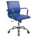 Кресло Бюрократ CH-993-Low/blue низкая спинка синий искусственная кожа