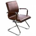 Кресло Бюрократ CH-993-Low-V/brown низкая спинка коричневый искусственная кожа полозья