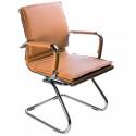 Кресло Бюрократ CH-993-Low-V/camel низкая спинка светло-коричневый искусственная кожа полозья