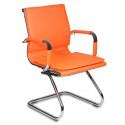 Кресло Бюрократ CH-993-Low-V/orange низкая спинка оранжевый искусственная кожа полозья