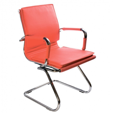 Кресло Бюрократ CH-993-Low-V/red низкая спинка красный искусственная кожа низкая спинка полозья