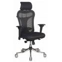 Кресло руководителя Бюрократ CH-999ASX спинка черный сиденье черный TW-11 эргономичная сетка