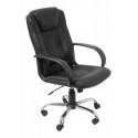Кресло руководителя Бюрократ T-800AXSN черный кожа