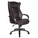 Кресло руководителя Бюрократ CH-879DG/Coffee темно -коричневый искусственная кожа (пластик темно-серый)