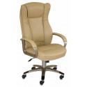 Кресло руководителя Бюрократ CH-879Y/Beige бежевый искусственная кожа (пластик золотистый)