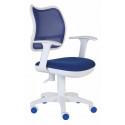 Кресло Бюрократ CH-W797 спинка сетка (пластик белый)