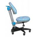Кресло детское Бюрократ KD-2/BL (голубой пластик)