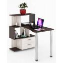 Компьютерный стол СЛ-5-3СТ-2+БЯ (левый)