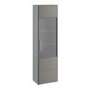Шкаф для посуды «Наоми» (Джут, Фон серый)