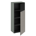 Шкаф комбинированный с 1-ой дверью «Наоми» (Джут, Фон серый)