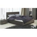 Кровать с подъемным механизмом «Наоми» (Фон серый, Джут)