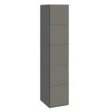 Шкаф с 1-й дверью «Наоми» СМ-208.07.01 (Фон серый, Джут)