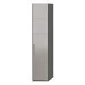 Шкаф с 1-й зеркальной дверью «Наоми» (Фон серый, Джут)