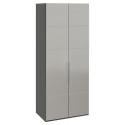 Шкаф с 2-мя зеркальными дверями «Наоми» (Фон серый, Джут)