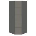Шкаф угловой с 1-й дверью «Наоми» (Фон серый, Джут)