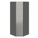 Шкаф угловой с 1-й зеркальной дверью «Наоми» (Фон серый, Джут)