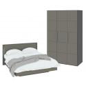 Спальный гарнитур стандартный набор «Наоми» (Фон серый, Джут)