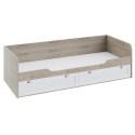 Кровать с 2-мя ящиками «Ривьера» (Дуб Бонифацио/Белый)