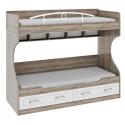 Двухъярусная кровать (без лестницы) «Прованс»  ТД-223.11.01 (Дуб Сонома трюфель/Крем)