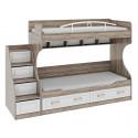 Двухъярусная кровать «Прованс» (Дуб Сонома трюфель/Крем )