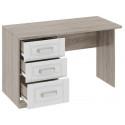 Письменный стол с 3-мя ящиками «Прованс» (Дуб Сонома трюфель/Крем) ТД-223.15.02