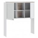 Шкаф настольный «Ривьера» (Дуб Бонифацио/Белый)