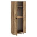 Шкаф для одежды «Пилигрим» (Дуб Каньон светлый, Фон серый)