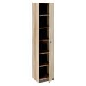 Шкаф для белья «Пилигрим» (Дуб Каньон светлый, Фон серый)