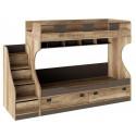 Набор детской мебели «Пилигрим» №4 (Дуб Каньон светлый, Фон серый)