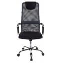 Кресло руководителя Бюрократ KB-9/DG/TW-12 серый TW-04 TW-12 сетка крестовина хром