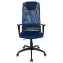 Кресло руководителя Бюрократ KB-8/DB/TW-10N синий TW-05N TW-10N сетка
